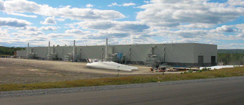 LM Glasfiber Wind Turbine Blade Plant