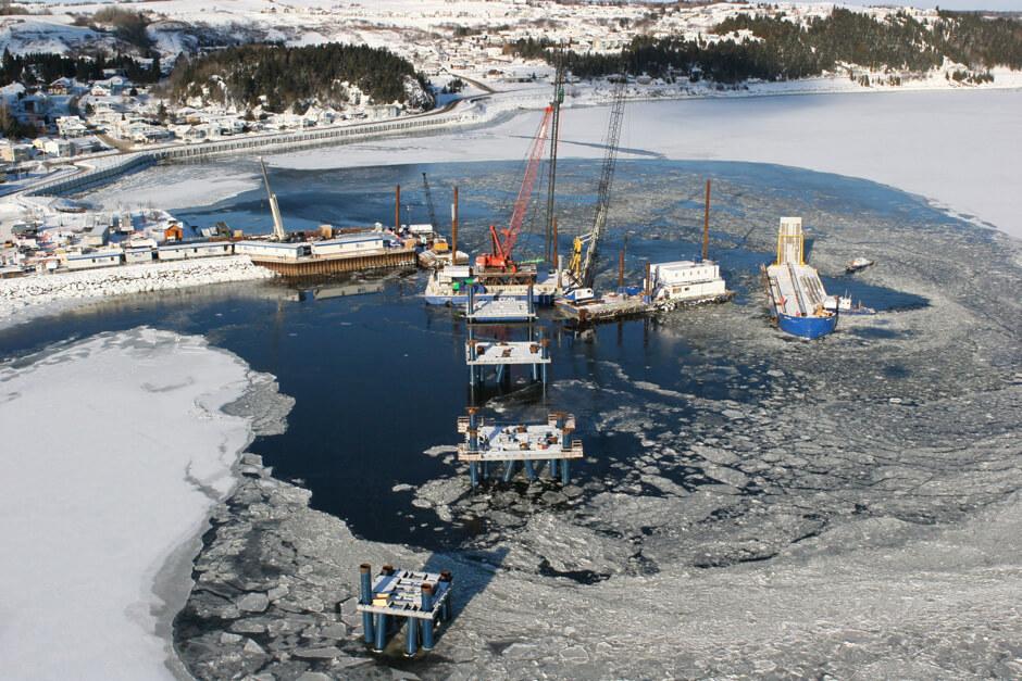 quai d'escale pour navires de croisière de La Baie